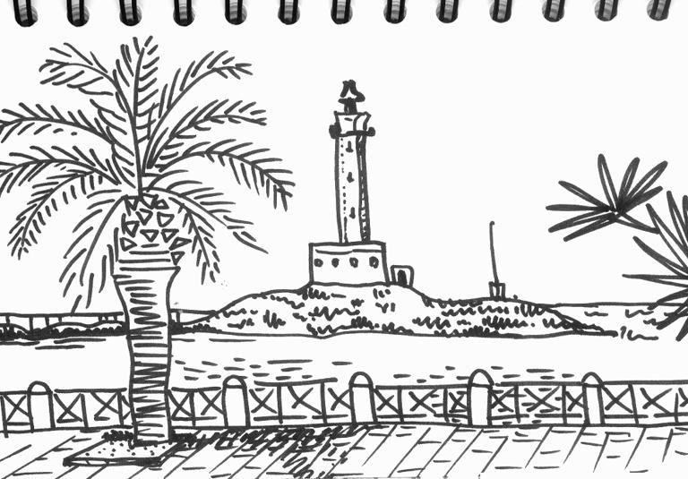 Vyhlídka na moře ve Vieste